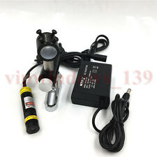 5V Red Dot Spot Laser Module 200mW + AC/DC Power Supply+Bracket Kit for Printing