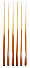 """SET OF 6 POOL CUES 4-Prong 57"""" One-Piece House Bar Billiard Pool Cue Stick"""