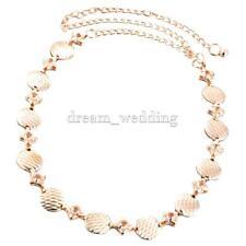 Damen Gürtel Metal Gold Strass Kettengürtel Taillengürtel Brautgürtel