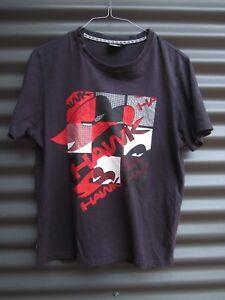 Tony Hawk Black T Shirt With Hawk Motif Label Size XS