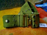 A4  2 X AUSTRALIAN ARMY BELTS WITH BRASS 100 cm WITH SPARE 110 cm SEE PICS