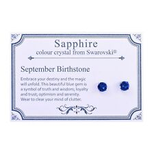 September (Sapphire) Birthstone Earrings with Crystals from Swarovski®