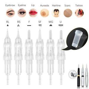 10Pcs Tattoo Needles Cartridges Permanent Makeup with Membrane Prevent Back Flow