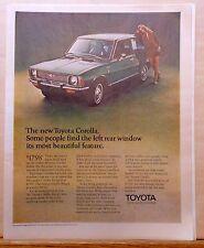 1970 magazine ad for Toyota Corolla - beautiful surprises, colorful ad
