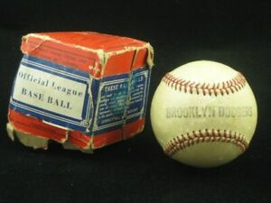 1938-42 Brooklyn Dodgers Team Baseball (Larry MacPhail) w/ Original Box