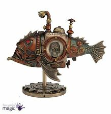 Nemesis Now Sub Piranha Fish Steampunk Submarine Gothic Figurine Ornament Gift