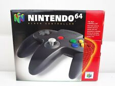 Nintendo N64 Black Controller OEM In Box Great Condition Tested and Authentic