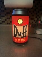 """Simpson's Rotating Duff Beer Can Table Light 10"""" Tall Working Condition"""