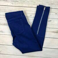 J Brand Danica Skinny Jeans Size 30 Womens Indigo Blue Zipper Leg Ankle 8910O241