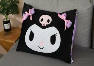 kuromi black fuzzy pillowslip pillowcase pillow cover pillowcases fashion