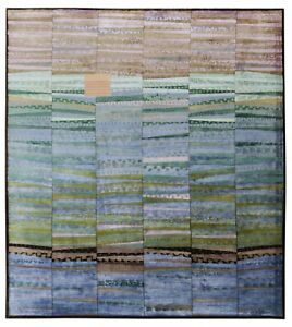 New Multi color 8'x10' ft Hand Knotted Striped Designer Style Silk & Area Rugs