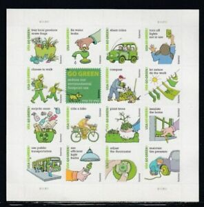USA Go Green MNH souvenir sheet