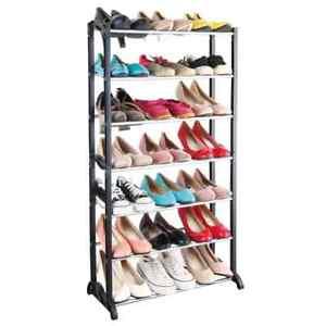 MESA LIVING Etagère à Chaussures 7 Niveaux Range-chaussures Organisateur