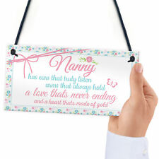 Nanny Heart Of Gold Birthday Gifts Sign Chic Cute Nan Nanny Grandmother Special
