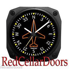 "New TRINTEC DIRECTIONAL GYRO Alarm Clock Portable Aviator Stewart DM62 3.5"""