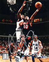 TIM HARDAWAY SIGNED AUTOGRAPHED 8x10 PHOTO MIAMI HEAT LEGEND BECKETT BAS