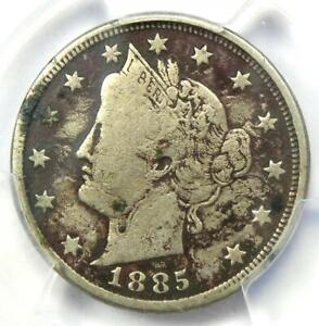 1885 Liberty Nickel 5C - PCGS VG Details - Rare Key Date Certified Coin!