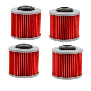 4X Oil Filters For Yamaha XVS1100 V-STAR XVS650 VIRAGO 250 APRILIA PEGASO 650