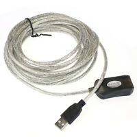 5M USB Active Repeater Cable Extension Lead For Computer Plug Extender Tide