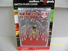 Licensed Dodge Grab Life by the Horns Diamond Cut single light switch cover new!