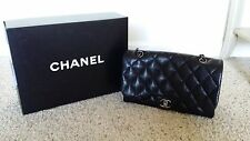 Authentic Black Chanel Sac Rabat Handbag