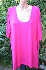 TS 14+ MAGENTA Pink STATIC Tunic Top SIZE L -20 S/Sleeve rrp$89.95