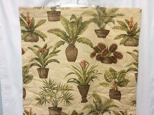 Thomasville Euro Pillow Sham Tropical Floral Plants Palms Beautiful 1