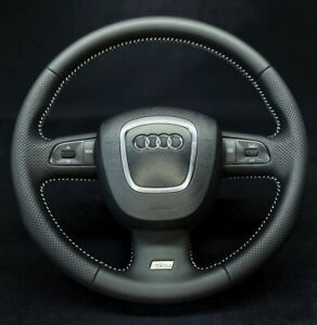 Audi A3 A4 B7 Steering Wheel S-Line Sport Shift Paddles 3 Spoke Refurbished