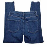 AGOLDE Womens Slim Skinny Jeans Blue Medium Wash Stretch Whiskered Juniors 27
