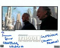 IAN McDIARMID STAMP signed Autogramm 20x25cm STAR WARS In Person autograph COA