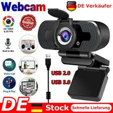 1080P HD Webcam Kamera USB 2.0 Mit Mikrofon für Computer PC Laptop Notebook DE