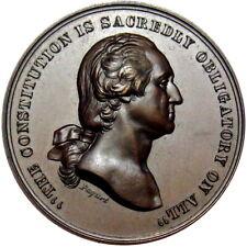 1861 George Washington Civil War US Mint Medal Token Paquet Oath Of Allegiance