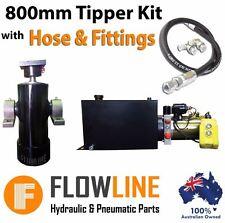 Hydraulic Ram Cylinder with Hydraulic Power pack  - Tipper Trailer Kit- 800mm