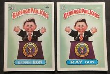 Garbage Pail Kids OS2 46a * 46b ** Rappin' Ron and Ray Gun - well loved.