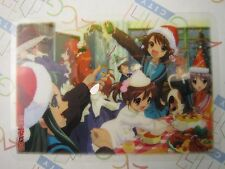 Melancholy of Haruhi Suzumiya Jumbo Carddas Plate Collection Card G Bandai USED