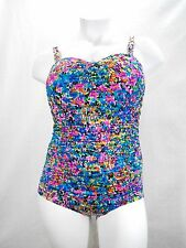 ba544cb96528 Longitude Star Quality Shirred Lingerie Slimming One Piece Swimsuit 22W  Multi