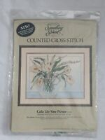 Calla Lily Vase Picture Counted Cross Stitch Kit #50280 1986 Candamar Designs