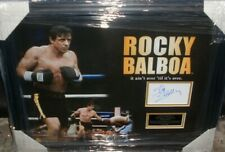 SYLVESTER STALLONE ROCKY BALBOA SIGNED MONTAGE