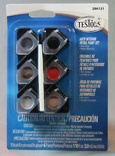 Testors Auto Interior Detail Paint Set for models and art projects 286121