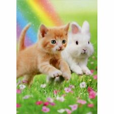 Avanti Press Kitten And Bunny Friends Cat Easter Card