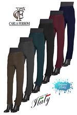 Pantalone donna invernale in maglia di lana made in Italy CARLA FERRONI 6626