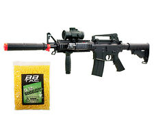M4 Airsoft Gun Electric Full Auto Rifle 250 FPS RIS AEG Scope M16 M83 +5000 BBs