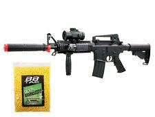 M4 Airsoft Gun Electric Full Auto Rifle 250 FPS RIS AEG Scope M16 M83 +5000 BBs