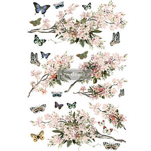 Floral Furniture Decals ReDesign Prima Furniture Transfers Rub On Blossom