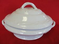 LIVESEY POWELL WHITE ENGLISH IRONSTONE Covered Vegetable Serving Bowl