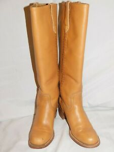 FRYE TALL BROWN LEATHER RIDING BOOTS SIZE 7B