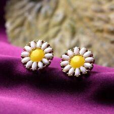 Pendientes con Pasador Clip en Chapado en Oro Cristal Spike Perla Para Mujer Chicas CZ Gatsby