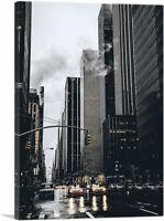 ARTCANVAS Rainy Streets of New York Canvas Art Print