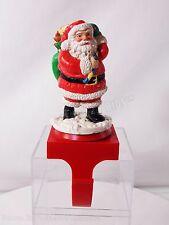 San Francisco Music Box Co Christmas Rotating Santa Claus Stocking Holder 1992