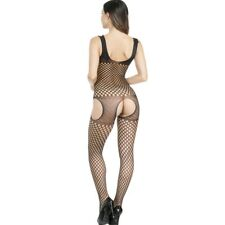 Women Mesh Bodysuit Body Stocking Lingerie Fishnet Babydoll Nightwear Sleepwear